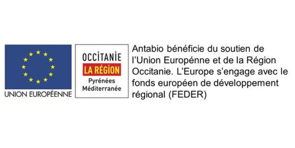 Antabio bénéficie du soutien de l'union européenne et de la région occitanie
